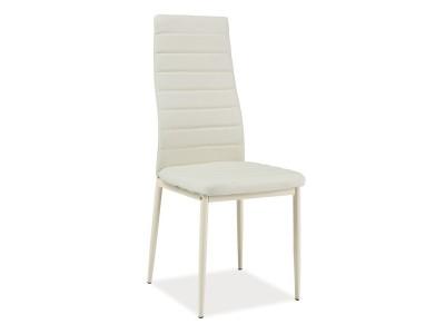 Krzesło H261 BIS ekoskóra krem / stelaż krem
