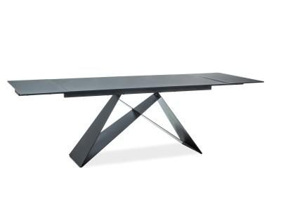 Stół rozkładany WESTIN II czarny efekt kamienia/czarny mat 160(240)X90