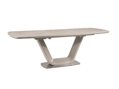 Stół rozkładany ARMANI CERAMIC szary efekt marmuru/szary mat 160(220)X90
