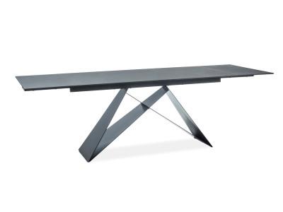Stół rozkładany WESTIN I czarny/czarny mat 160(240)X90