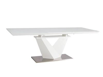 Stół rozkładany ALARAS III biały/biały lakier 160(220)X90