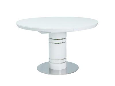 Stół rozkładany okrągły STRATOS biały lakier 120(160)x120