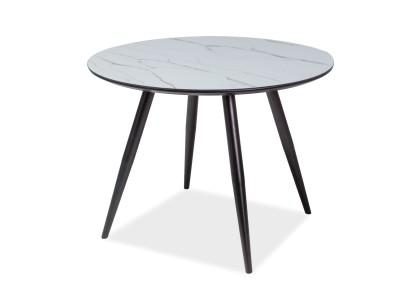 Stół okrągły IDEAL efekt marmuru/czarny 100X100