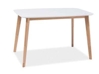 Stół MOSSO I biały/dąb 120X75