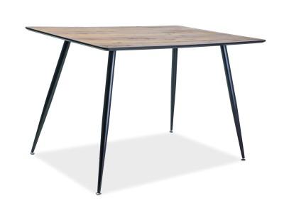 Stół REMUS orzech/czarny 120X80