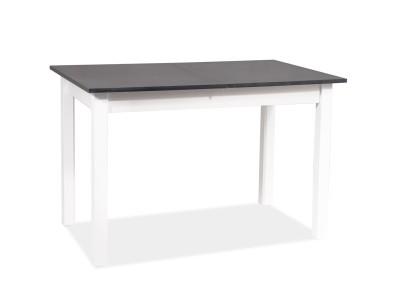 Stół HORACY antracyt/biały mat 100(140)x60