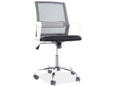 Fotel obrotowy Q-844 czarny / stelaż biały