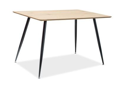 Stół REMUS dąb/czarny 120X80