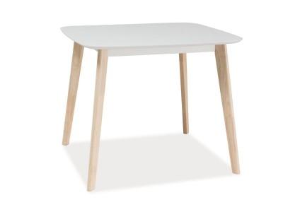 Stół TIBI biały/dąb bielony 90X80