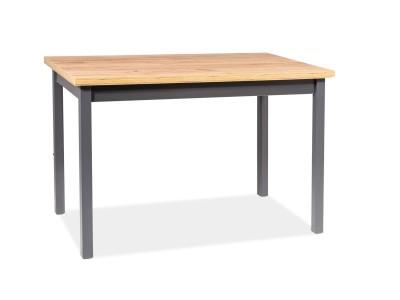 Stół ADAM dąb lancelot/ biały mat 120x68
