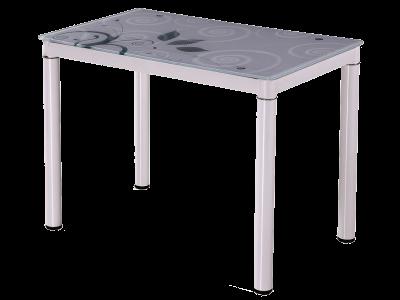 Stół szklany DAMAR biały 80X60