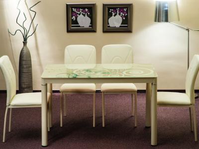 Stół szklany DAMAR kremowy 80X60