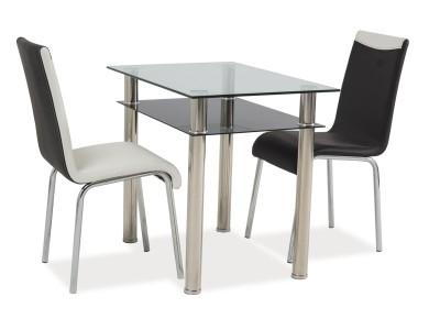 Stół szklany MADRAS chrom 90x60X75