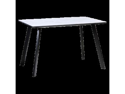 Stół SAMUEL efekt marmuru/czarny mat 120X80