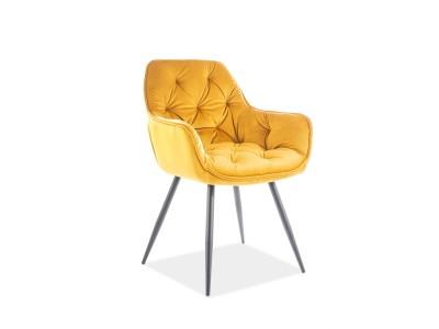 Krzesło CHERRY VELVET curry BLUVEL 68 / stelaż czarny