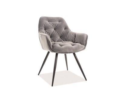 Krzesło CHERRY VELVET szary BLUVEL14 / stelaż czarny