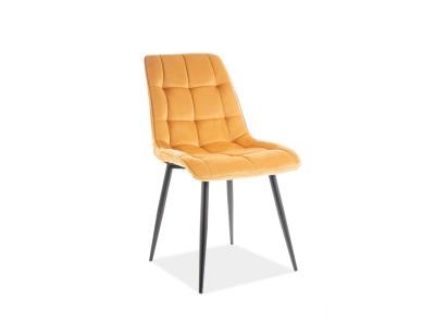 Krzesło CHIC VELVET curry BLUVEL 68 / stelaż czarny